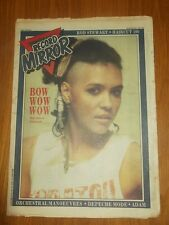 RECORD MIRROR NOVEMBER 7 1981 ROD STEWART HAIRCUT 100 POLICE ADAM ANT SQUEEZE