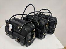 3 Jill-E Black Camera Bags; 2 Prototypes; Plain & Patterned Interiors; w Straps