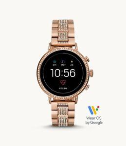 Fossil Gen 4 Smartwatch Venture HR Rose Gold Tone Stainless Steel 40mm FTW6011