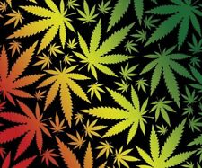 New Marijuana Pot Leaves Leaf Fleece Throw Blanket Gift Rasta Weed Colorado SOFT