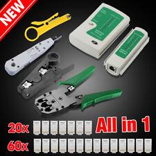 AU Crimp Punch Tool Data Network LAN RJ45 CAT5e RJ11 RJ12 PC Cable Tester Kit