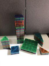 Magna-Tiles multi Colors shapes  Magnetic Building Tiles 89 Piece Set