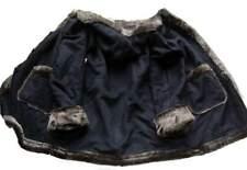 Swinger schwarz Mantel Zottel Fell Kapuze Taschen Gr. 40 Fake Fur Pelz Webpelz
