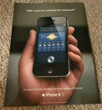 Apple Poster Genuine Print Ad Art Year 2012 FOR iPhone 4s Siri RARE Collectors