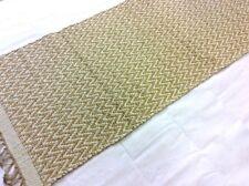 BEIGE CREAM CHEVRON Handmade Cotton REVERSIBLE Washable RUG HALL RUNNER 70x200cm