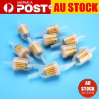 """10X Gas Petrol Fuel Filter 1/4"""" 5/16"""" Pipe Motorcycle Dirt Quad Tools Inline AU"""