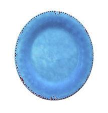 Melamin Teller Antikoptik blau 26,5 cm Camping Geschirr Garten Party Zelten NEU