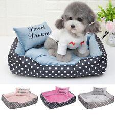 Pet Dog Cat Warm Bed Sleeping Basket Mat With Bolster Pillow Puppy Cushion Pad