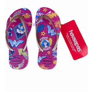 Havaianas pink Wonder Woman flip flops girls 11/12