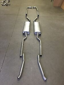 1956-1958 CORVETTE DUAL EXHAUST SYSTEM, ALUMINIZED (WITH 1 4 BARREL CARB)