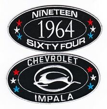 1964 CHEVY IMPALA SEW/IRON ON PATCH EMBROIDERED BADGE EMBLEM CHEVROLET LOWRIDER