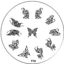 Stampingschablone T70 , verschiedene Schmetterlinge, 11 Motive