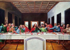 Christian ART RELIGIEUX. La Cène sur toile. Circ .1500's. UK STUDIO ART.