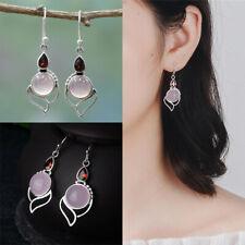 mondstein ohrringe edelstein - ohr - hengst chalcedony von ruby opal stein