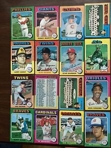 1975 Topps baseball - 48 Cards, No Duplicates  (see List)- Good or Better Cond