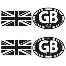 GB Union Jack Sticker Set Small Car Van Motorbike Motorcycle Scooter Vespa Vdub