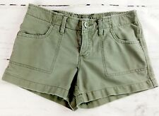 AMERICAN EAGLE OUTFITTERS Sz 2 Button Fly Green Cotton Mini Shorts