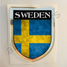 Sweden Sticker Resin Domed Stickers Flag Grunge 3D Adhesive Decal Gel Car Moto