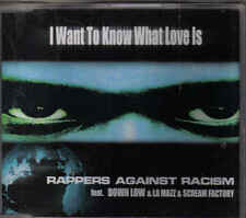 Rappers Against RAcim-I Want to Know What Love Is cd maxi single