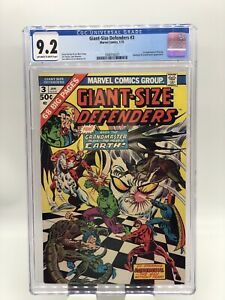 Giant-Size Defenders #3 CGC 9.2 OW/W Pages 1st Appearance of Korvac KEY ISSUE