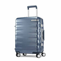 """Samsonite Framelock Hardside Carry On Luggage with Spinner Wheels 20"""" Ice Blue"""