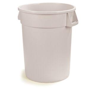 Carlisle 34103202 Round Waste Container - 32 Gallon Cap., White