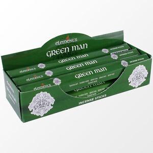 Elements  Green Man Incense Joss sticks. 20 sticks, 1 pack.