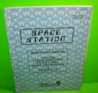 SPACE STATION Pinball Machine Service Manual Original Arcade Game 1988 Williams