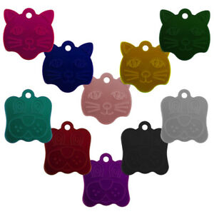 DOG/CAT FACE ALLOY ID NAME TAG DISC PERSONALISED ENGRAVED PET IDENTITY TAGS