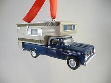 1967 Dodge D100 Truck with Camper '67 Dodge Pickup Christmas Tree Ornament