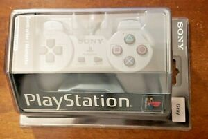 OFFICIAL SONY PLAYSTATION ONE SCPH-1080 u/94041 GRAY CONTROLLER OEM NEW SEALED
