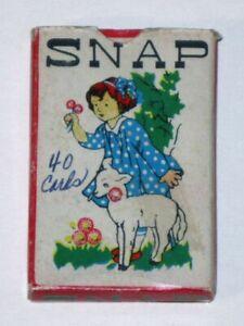 Rare 1950s SNAP Card Game! COMPLETE in Original Box! Nursery Rhymes! (Hong Kong)