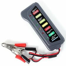 12V Car Motorcycle Digital Battery Alternator Tester 6 LED Display Vehicle ATV f