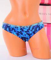 XS X-Small PINK VS VICTORIA'S SECRET Swim Hipster Cheeky Bikini Bottom Blue NWT