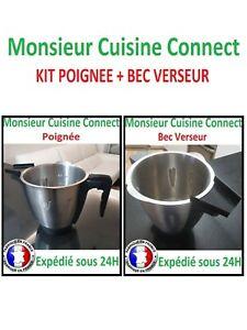 KIT Poignée + Bec Verseur Monsieur Cuisine Connect Silvercrest de chez LIDL