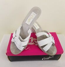 "Vintage Candies Shoes Sandals White ""Wonder Fudge"" Size 7 1/2 M Brazil"