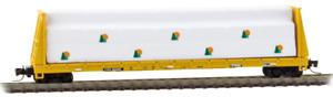 Micro Trains Z Scale TTX TTPX 60' Bulkhead Flat Car w/ Lumber Load 527-00-082