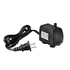 105 GPH (400L/H, 7W, 110-120V) Submersible Water Pump US Plug for Pond Fish Tank