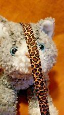 New listing Cat Collar Handmade - Cheetah Fabric Print . Crazy Wild Cat?