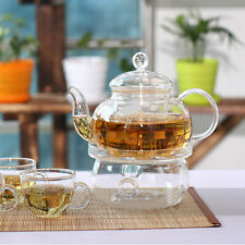 Clear Practical  Heat-Resisting Teapot Warmer Glass Insulation Tealight