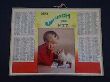 Calendrier Almanach 1973 chat cat Katze PTT calendar NANTES calendario Kalender
