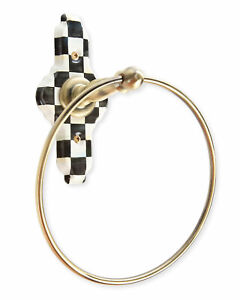 MacKenzie-Childs Courtly Check Towel Ring, Brand New WITH TAGS, 100% Authentic,