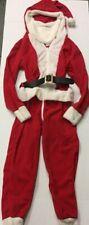Adult Men's Santa Claus One Piece Jumpsuit Costume Zip Up Size S NEW