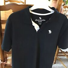 ABERCROMBIE& FITCH  BOYS NAVY POLO SHIRT SIZE 15-16 Yeaers