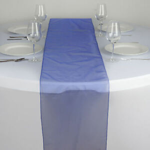 """Royal Blue ORGANZA 14x108"""" Table RUNNER Wedding Party Tabletop Decorations"""