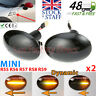 2x Black Smoked Side Indicator LED Repeater Light Mini Cooper R56 Coupe R58 R57