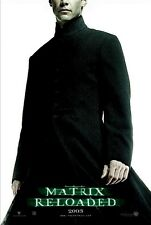 THE MATRIX RELOADED MOVIE POSTER ~ NEO ADVANCE 27x39 Keanu Reeves
