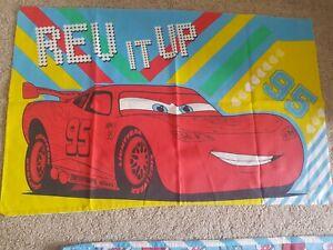 Disney Cars Kids Single Duvet Cover & Pillowcase - Lightning McQueen