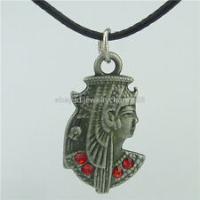 "Egyptian Queen Cleopatra Pendant Antique 16"" Collar Short Choker Necklace 15451"