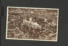 Vintage Valentine Sepia  Postcard Canterbury Cathedral from the Air Unposted